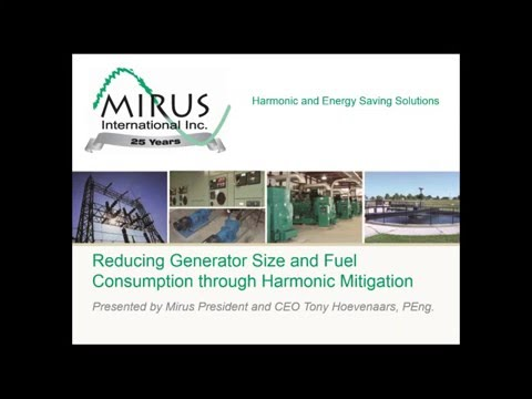 Reducing Generator Size and Fuel Consumption through Harmonic Mitigation