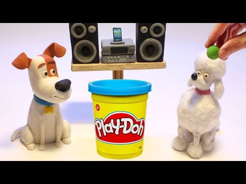 Thumbnail: Max & Poodle dog The secret life of pets movie stop motion play doh mascotas
