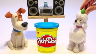 Max & Poodle dog The secret life of pets movie stop motion play doh mascotas