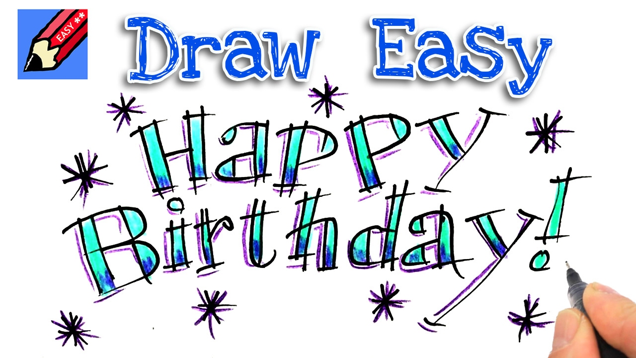 Drawing Pictures: Happy Birthday Drawing Pictures
