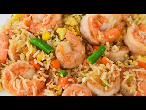 Arroz frito chino con Camarones -comida china