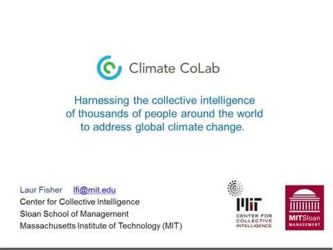 MIT's Climate CoLab: using collective intelligence to address climate change