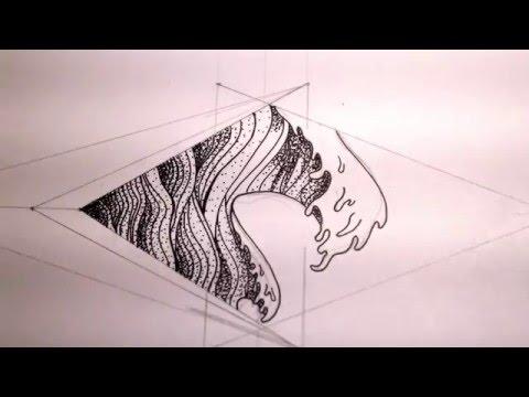 Drawing Process: Geometric Waves