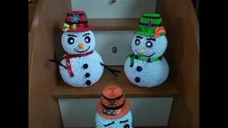 як зробити маленького сніговика з модулів