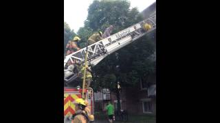 Pompier, Code Rouge, Montréal, SIM, sauvetage , 11Juillet 2014, incendie, 911