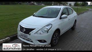 Novo Nissan Versa 2016 - Detalhes - NoticiasAutomotivas.com.br