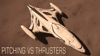 Elite:Dangerous. Imperial Cutter. Pitching vs modified Thrusters