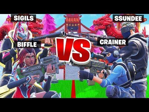 PUSH the LINE w/ Ssundee & Crainer - Fortnite Battle Royale Creative Mini Game