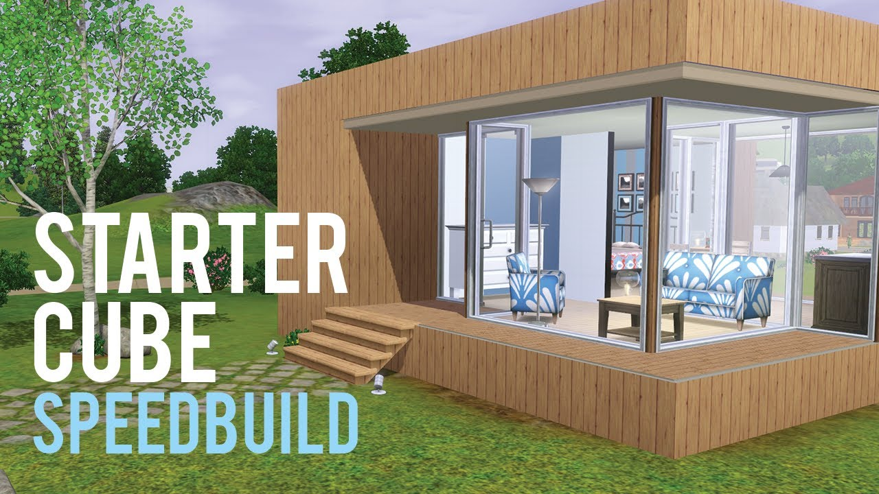 The sims 3 speed build starter home base game only youtube for Small starter house plans
