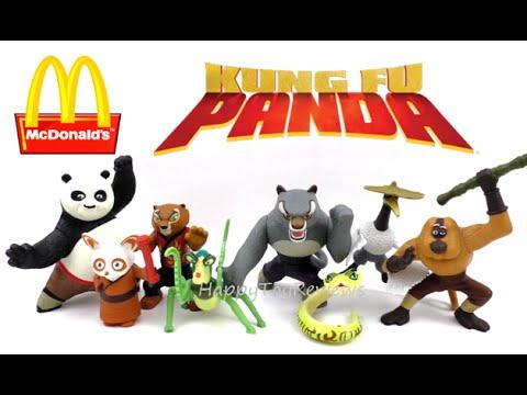 2008 Kung Fu Panda Movie Mcdonald S Set Of 8 Happy Meal Kids Toys