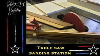 Tablesaw Sanding Station
