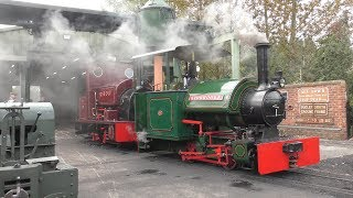 Statfold barn railway, 7th september, 2019, staffordshire, england. road, rail, ale event. narrow gauge steam locomotives, railcar, tram in action. featured...