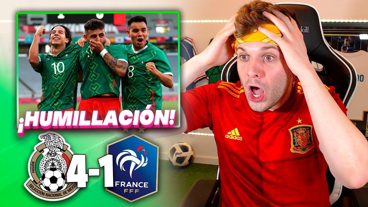 ESPAÑOL REACCIONA al MÉXICO 4-1 FRANCIA | Tokio 2020