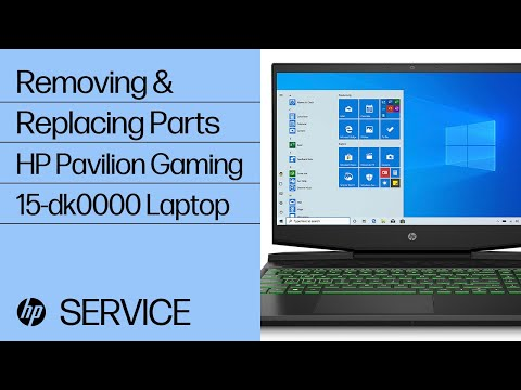Removing & Replacing Parts | HP Pavilion Gaming 15-dk0000 Laptop PC | HP Computer Service | HP