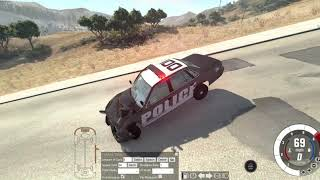Police Stopping Traffic BeamNG drive