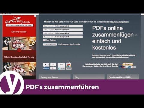 Einzelne PDF-Dateien zu einer PDF-Datei zusammenfügen