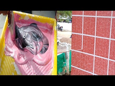 Asian paints tiles type of wall painting design exterior on wall