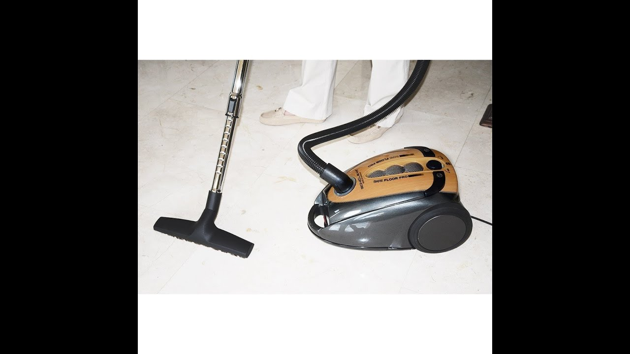 Soniclean Bare Floor Pro Canister Vacuum Cleaner  YouTube
