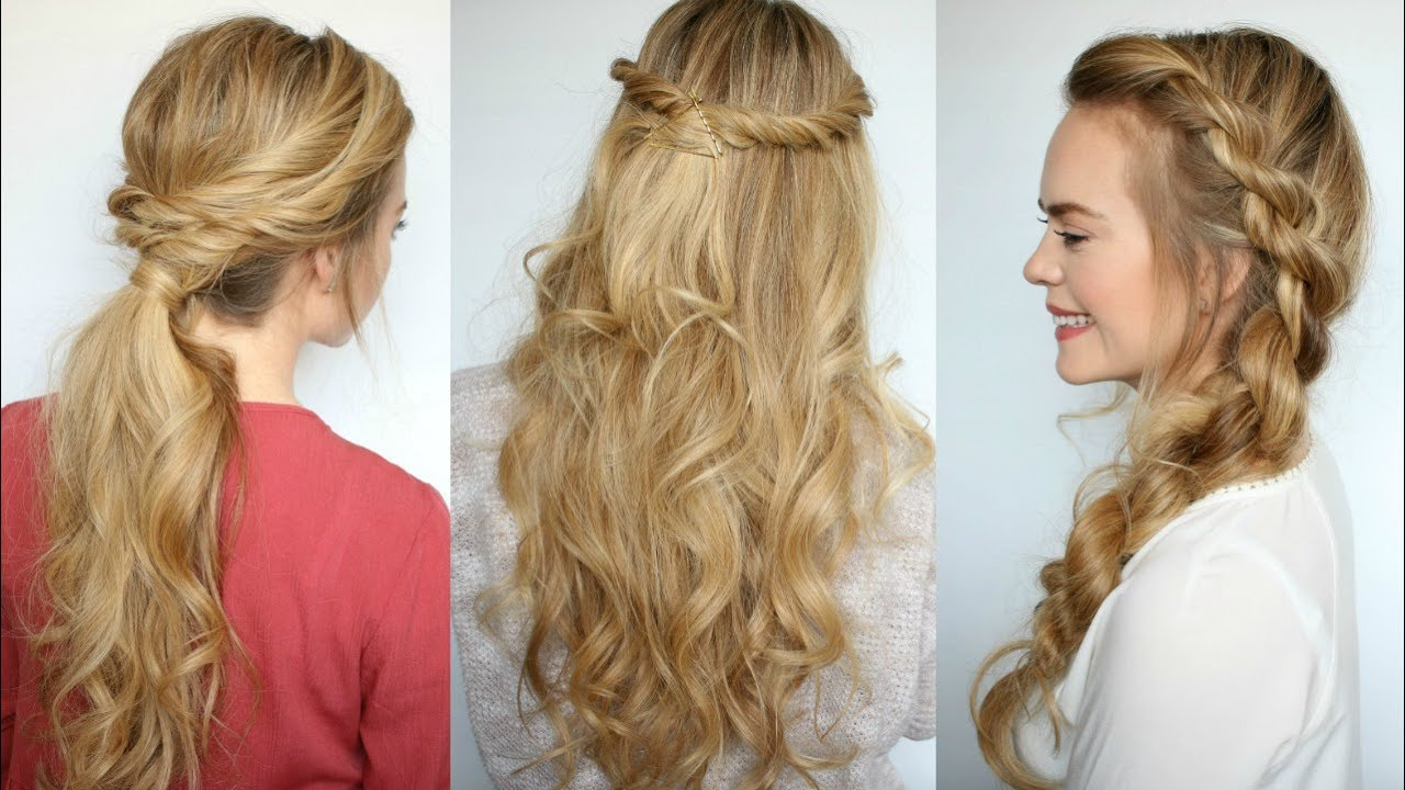 3 Easy Twisted Hairstyles Missy Sue Youtube