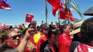 Tongan supporters arriving at Mauna Kea 07/24/2019 #WEareMaunaKea