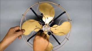 antique emerson brass blades fan 1915 s 古董電扇 restored a03