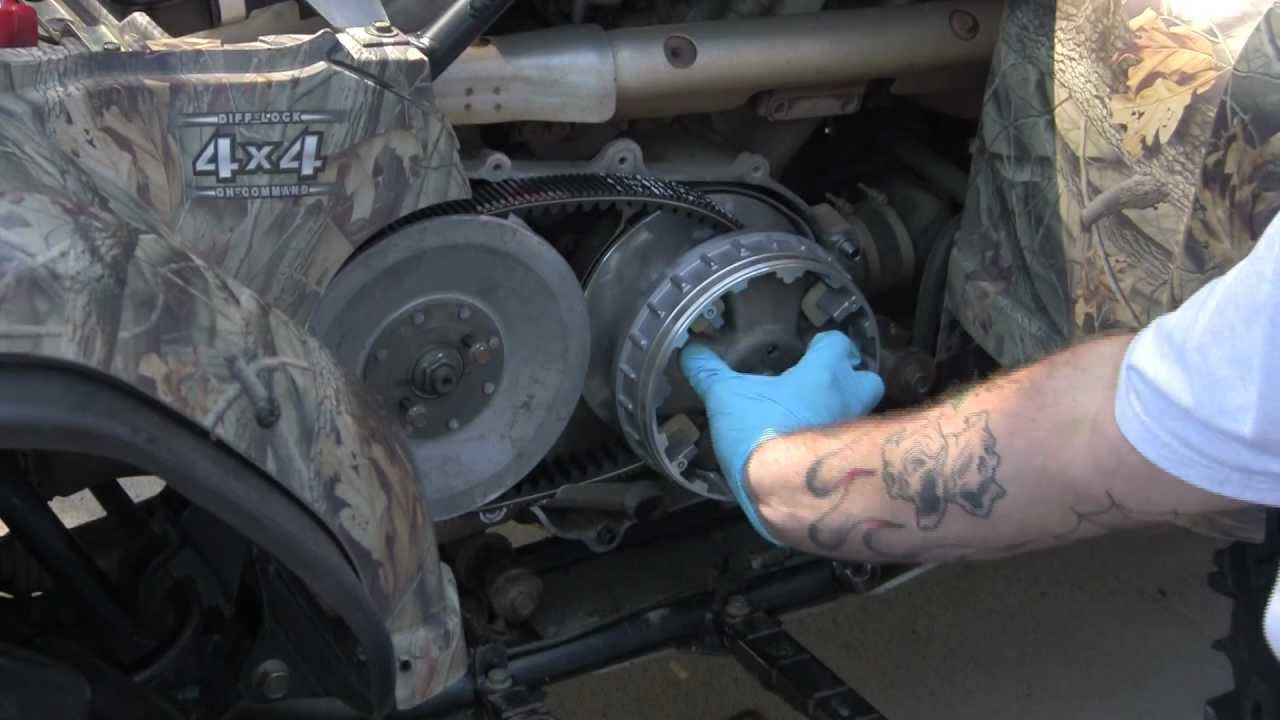 medium resolution of yamaha grizzly 450 machined sheave and grease less clutch install redux youtube