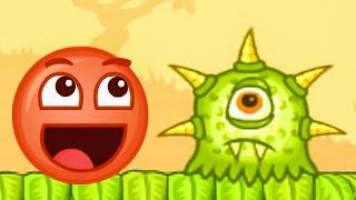 КРАСНЫЙ ШАР 5. Часть 1. Мультик ИГРА для детей Red Ball 5. Красный шарик на Игрули TV