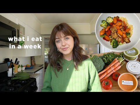 Download what I eat in a week! easy, gluten free, + plant based meals