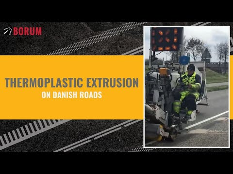 THERMOPLASTIC EXTRUSION on Danish roads