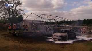 Tent ontploft op camping Stoetenslagh Rheezerveen