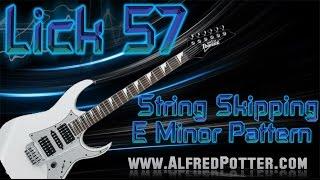 Lick #57 - E minor String Skipping Alternate Picking Pattern + TAB