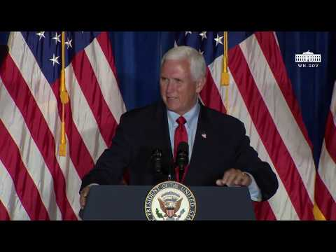 The White House: Vice President Pence Delivers Remarks at a Back the Blue Rally