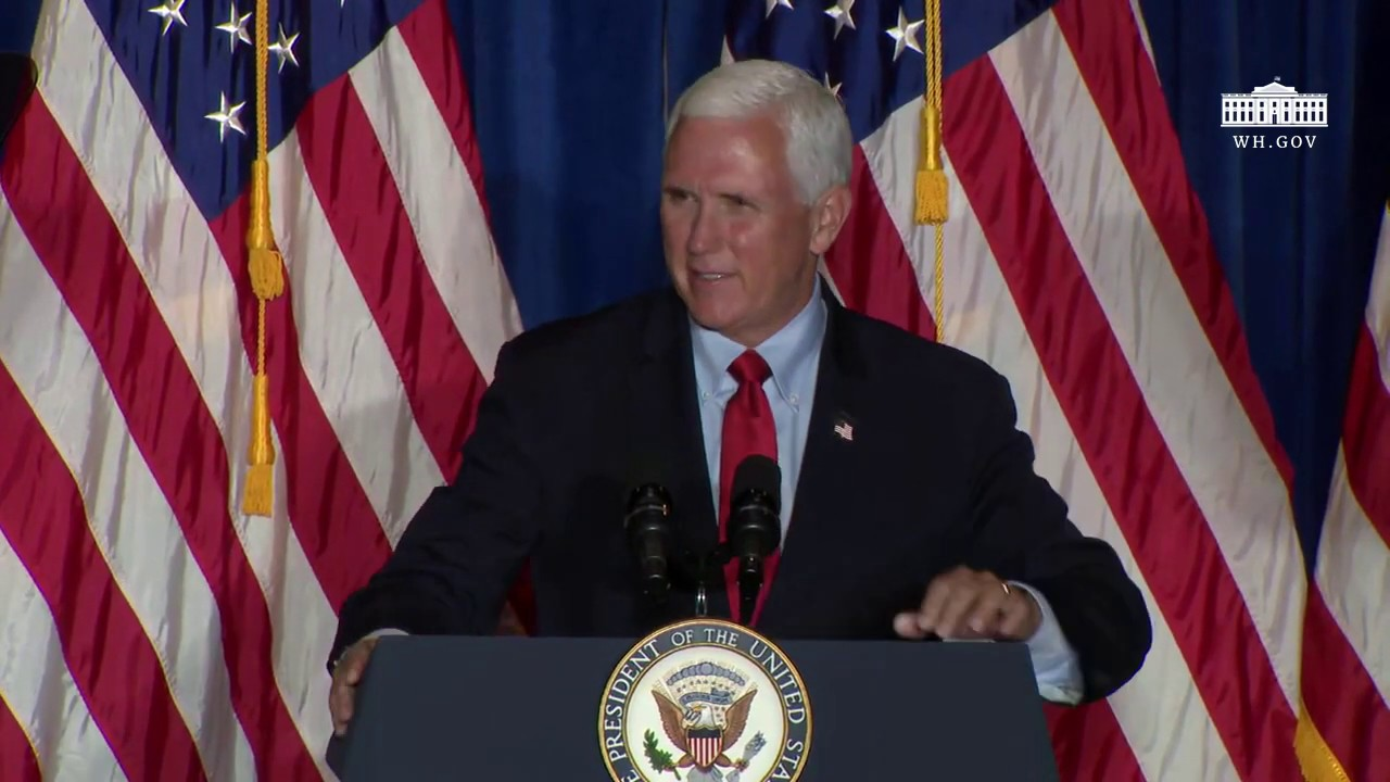 Vice President Pence Delivers Remarks at a Back the Blue Rally