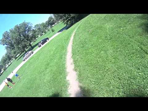 Illiniwek down hill and wooden berms