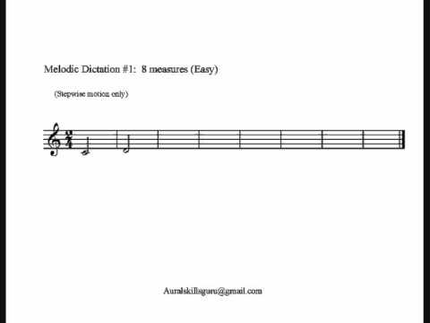 Melodic Dictation #1:  Stepwise motion only (Easy)