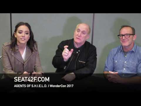 Agents Of SHIELD WonderCon 2017 Interview Chloe Bennet, Jeph Loeb, Clark Gregg