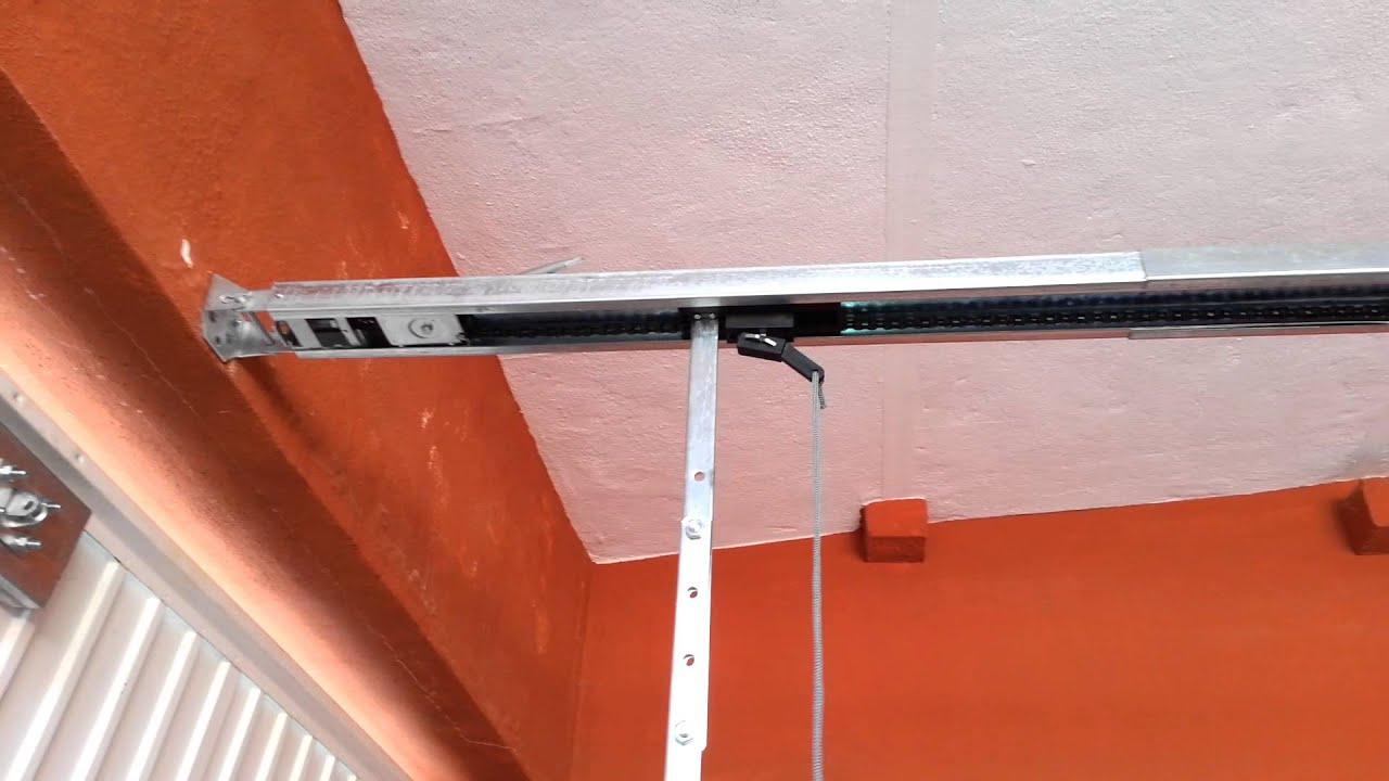 C mo poner motor a una puerta de garaje o cochera 2 youtube - Mecanismo puerta garaje ...