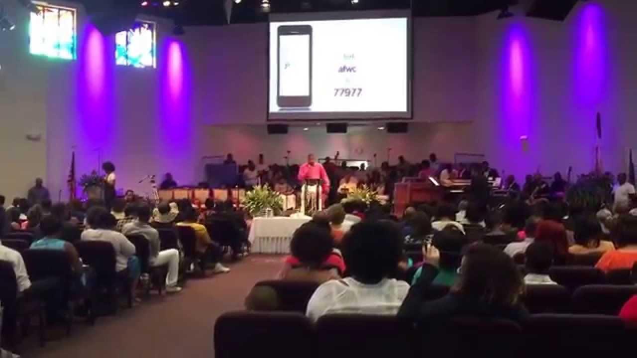 Agape Family Worship Center Steve Tadegrin Doing Offering