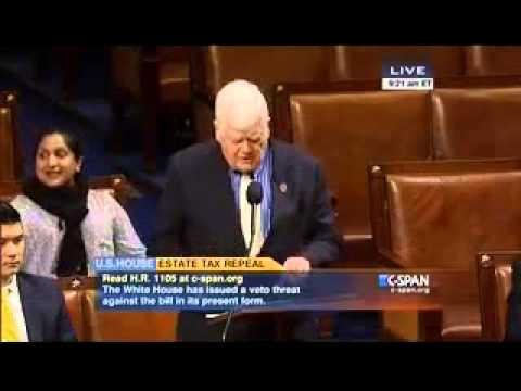 Rep. Jim McDermott Floor Statement in Opposition to Estate Tax Repeal