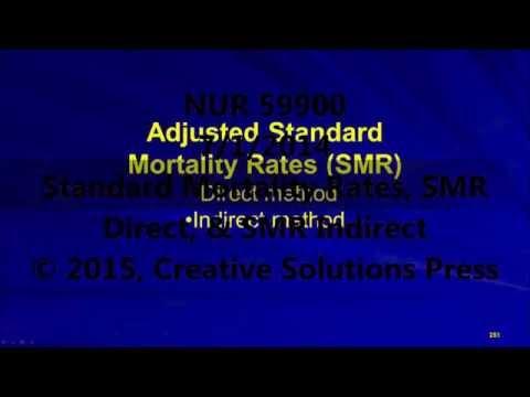 NUR 59900 - 7/1/2015 - Standard Mortality Rates, SMR Direct, & SMR Indirect