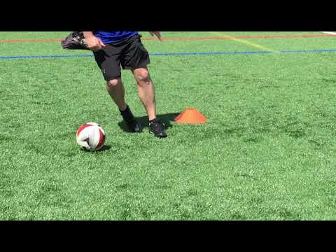 Soccer Control Dribbling   Outside of foot change direction