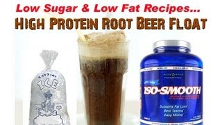 High Protein Root Beer Float Recipe!