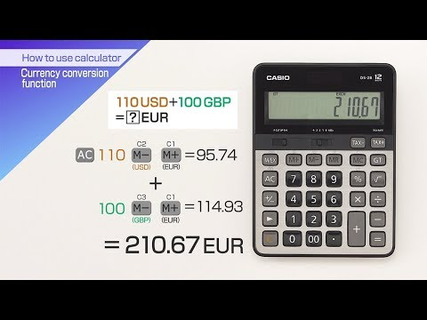 CASIO【How To Use Calculator Currency Conversion Function】