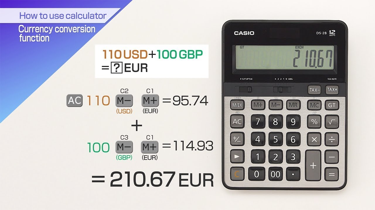 Calculator Currency Conversion Function