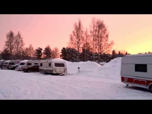 Nordkapp Vintertur 2015 - Video 10 - Jokkmokk Camping