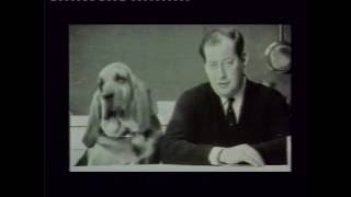 Sir Clement Freud 1924-2009 with his famous Dog Food Advert featuring Henry the dog