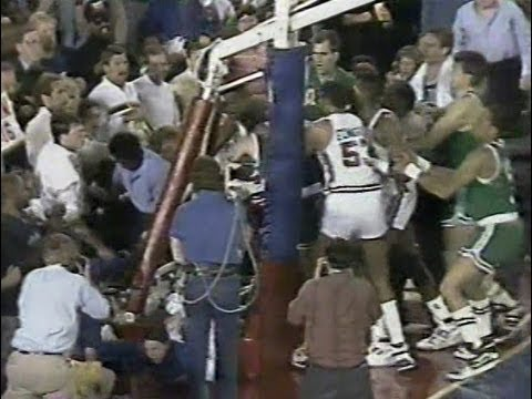 Dennis Rodman BRAWLS with Celtics in 1988 NBA Conference Finals