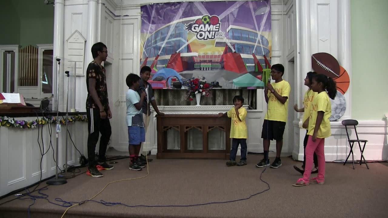 Christian Telugu songs || utccnj  skit by VBS kids 2018