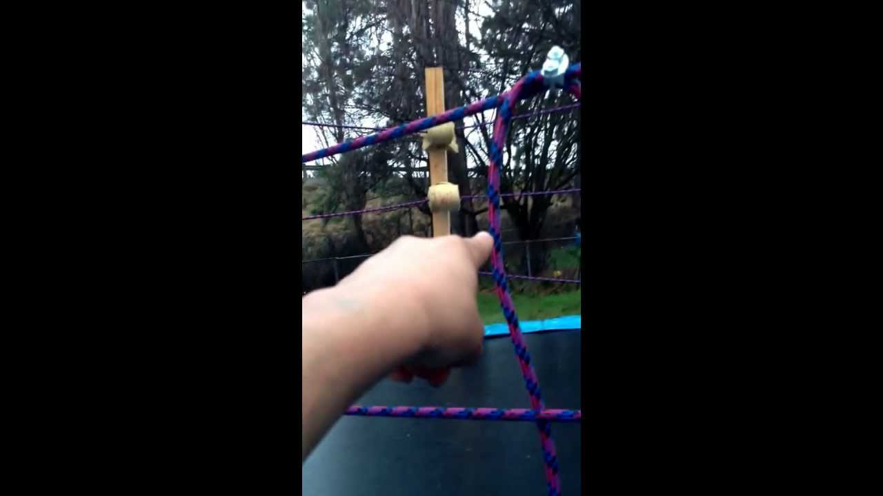 how to make a trampoline wrestling ring youtube