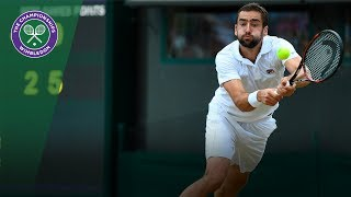 Marin Cilic v Gilles Muller highlights - Wimbledon 2017 quarter-final